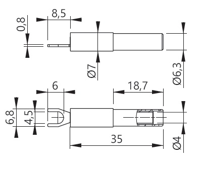 Haarukka-adapteri 4-M4