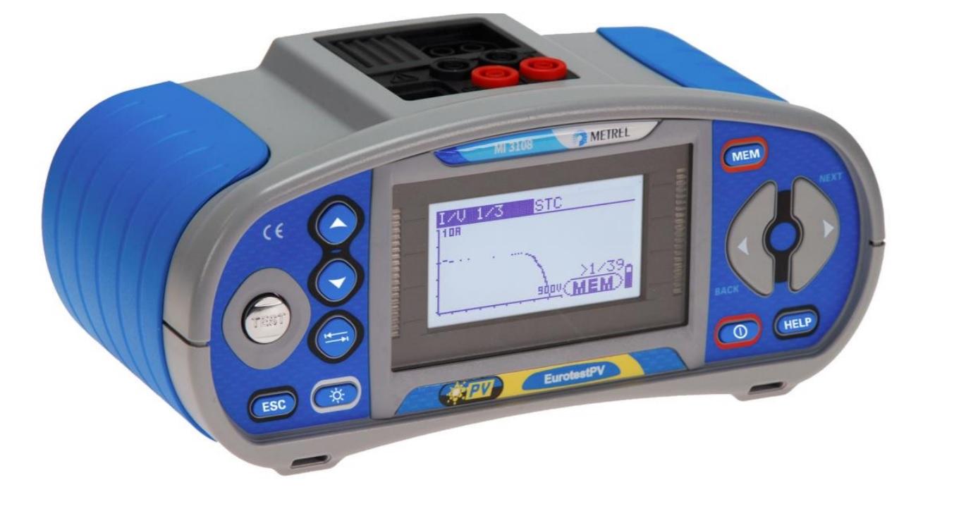 Asennustesteri Metrel MI-3108 ST PV