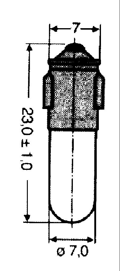Ba7s-kantainen hohto- ja hehkulamppu