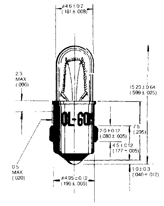 Ba5s (MB) -kantainen merkkilamppu