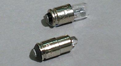 T-1 3/4 Mg6s/9 -kantainen merkkilamppu
