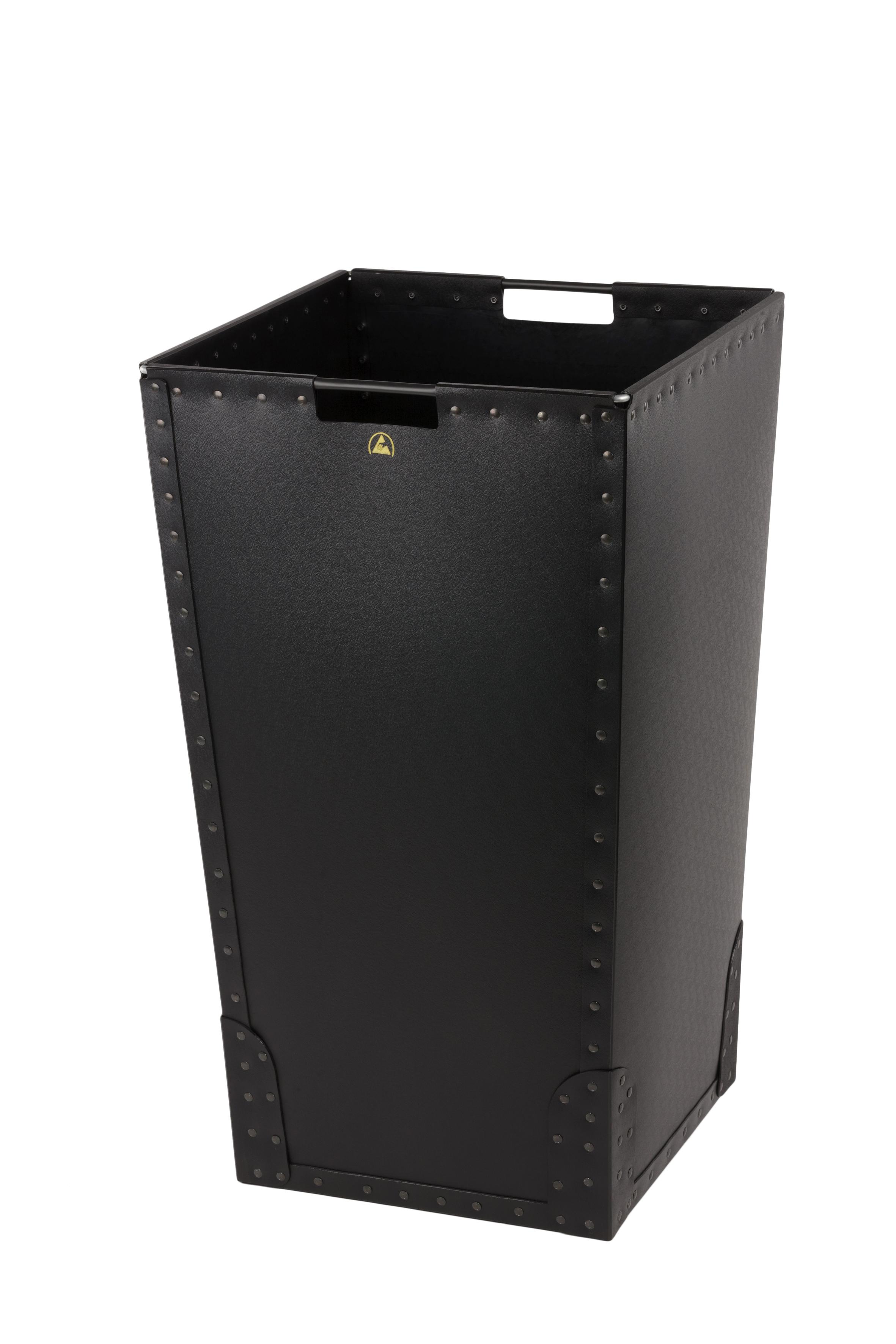 ESD-roskakori, kansi ja antistaattiset roskapussit 112 litraa