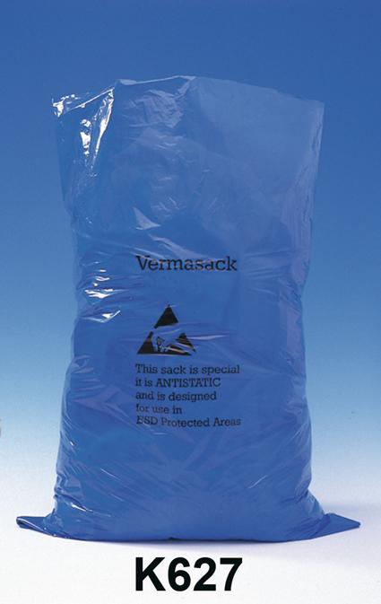 ESD-roskakori, kansi ja antistaattiset roskapussit 100 litraa