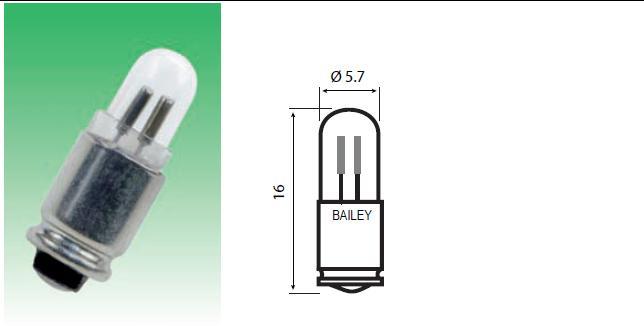 T-1 3/4 Mg6s/9 -kantainen hehku- ja hohtolamppu