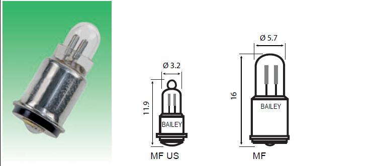 T-1 3/4 MF6s/8 -kantainen hehkulamppu