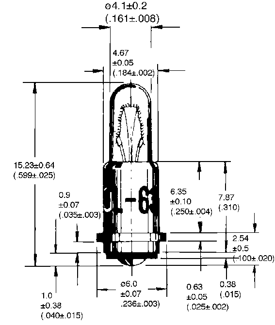 T-1 1/4SF -kantainen Midget Flanged special -lamppu