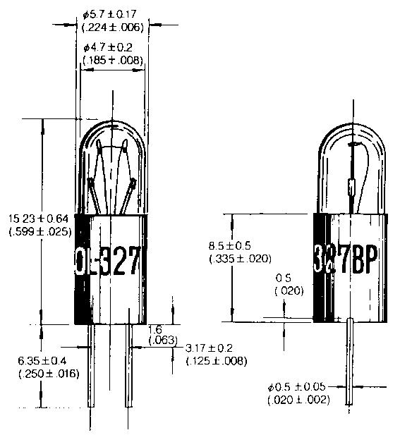 T-1 3/4 Bi-Pin -hehkulamput