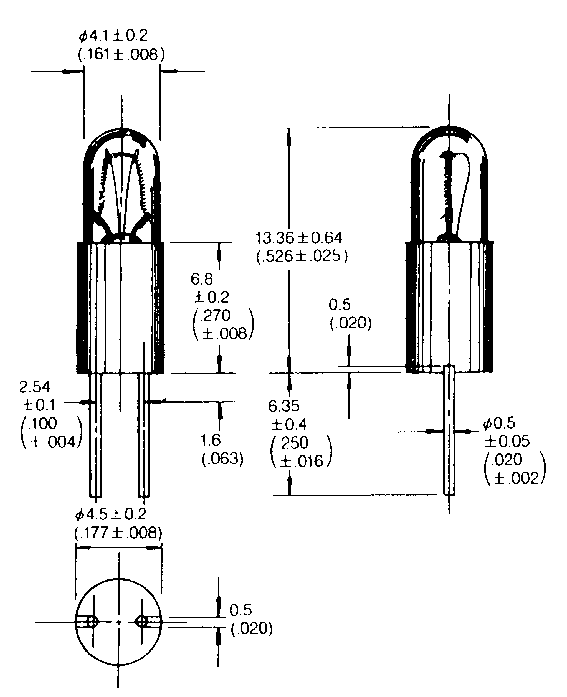 T- 1 1/4 BPE -lamppu