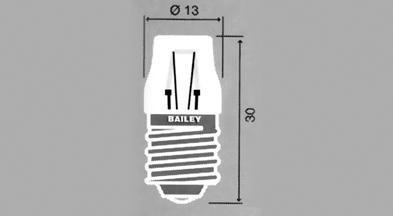 E-14-lamput, 13x30 mm