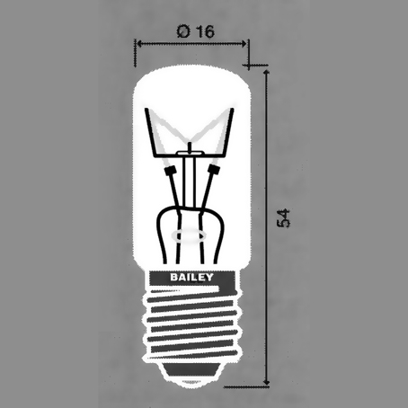 E-14 -lamput, 16x54 mm