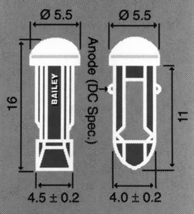 T-4.5 -puhelinlamppu, LED-lamput