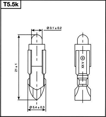 T-5.5k -lamppu, LED-lamput