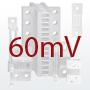 DIN-normin mukainen sivuvirtavastus, 60mV