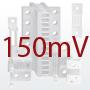 DIN-normin mukainen sivuvirtavastus, 150mV