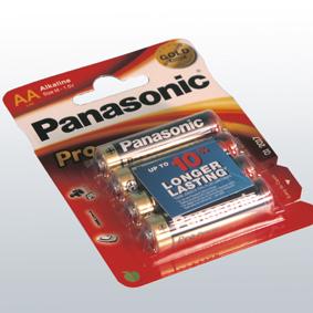 Kultamitali-sarja -paristot, Panasonic