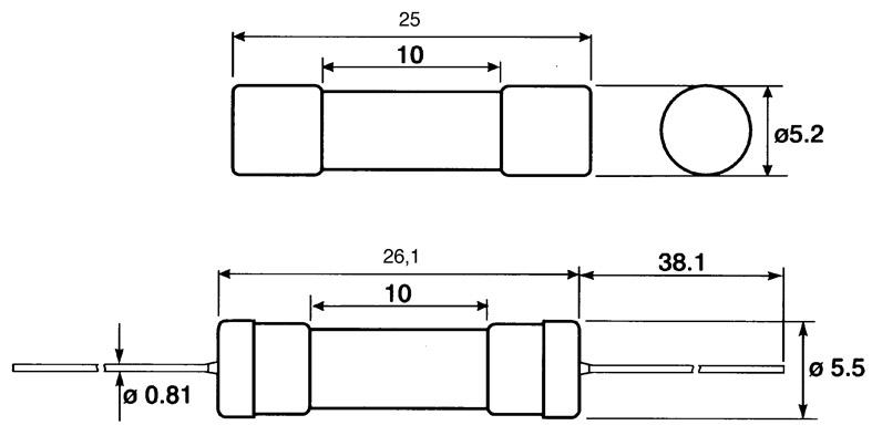 Nopea 5 mm * 20 mm lasiputkisulake