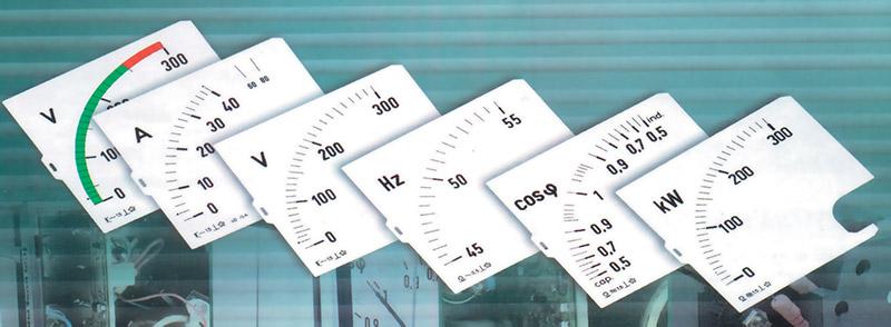 Asteikot DIN-normin mittareille