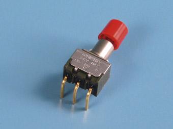 """Nikkai MB-""""light touch""""-sarjan painokytkimet piirilevyasennukseen, right angle mounting"""