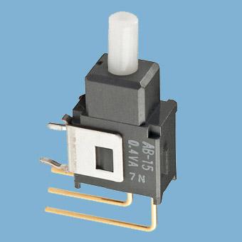 Nikkai Circuitboy-sarjan painokytkimet piirilevyasennukseen,  vertical mounting