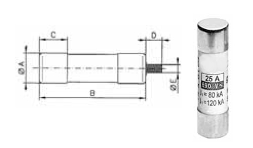 Teollisuuskäyttö, 14 mm * 51 mm sulake