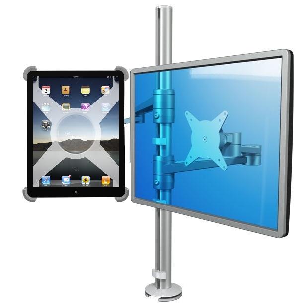 Pöytäteline IPad:lle ja monitorille