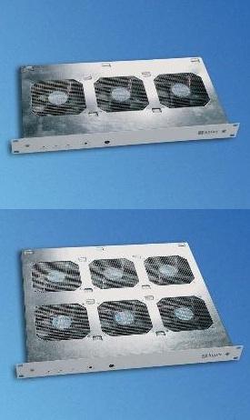 """19""""puhallinyksikkö (1U) 100-250 VAC automaattisella säädöllä"""