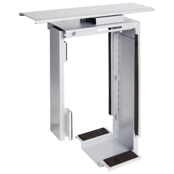 PC-teline pöydän alle, ulosvedettävä ja kääntyvä