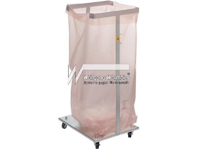 ESD-jätesäkkiteline ja antistaattiset roskapussit 125 litraa