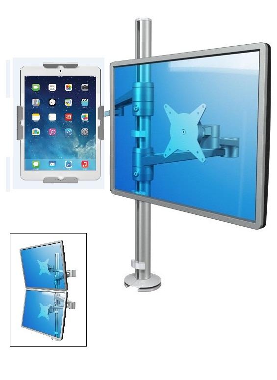 Pöytäteline tabletille ja monitorille