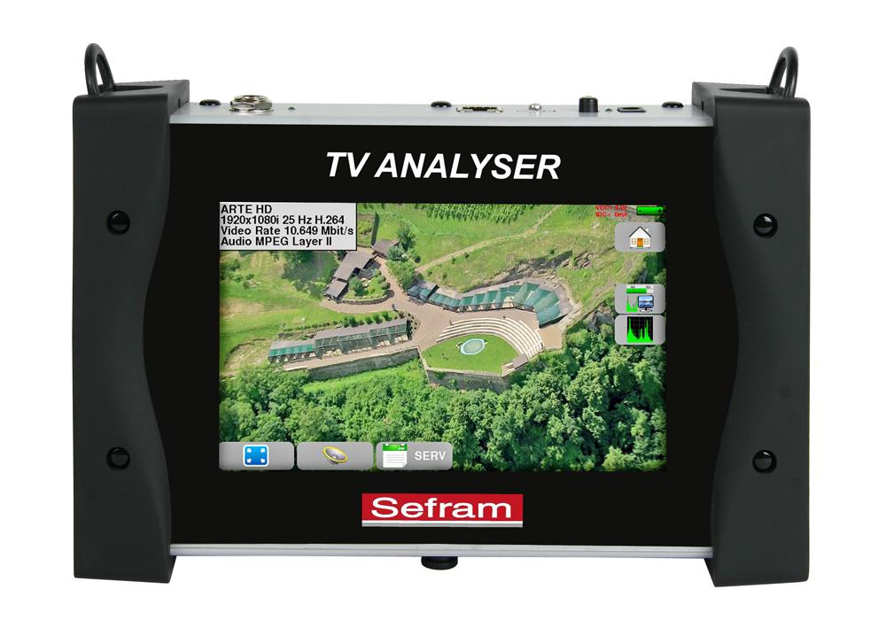 Digi-tv-kentänvoimakkuus- mittari Sefram 7849