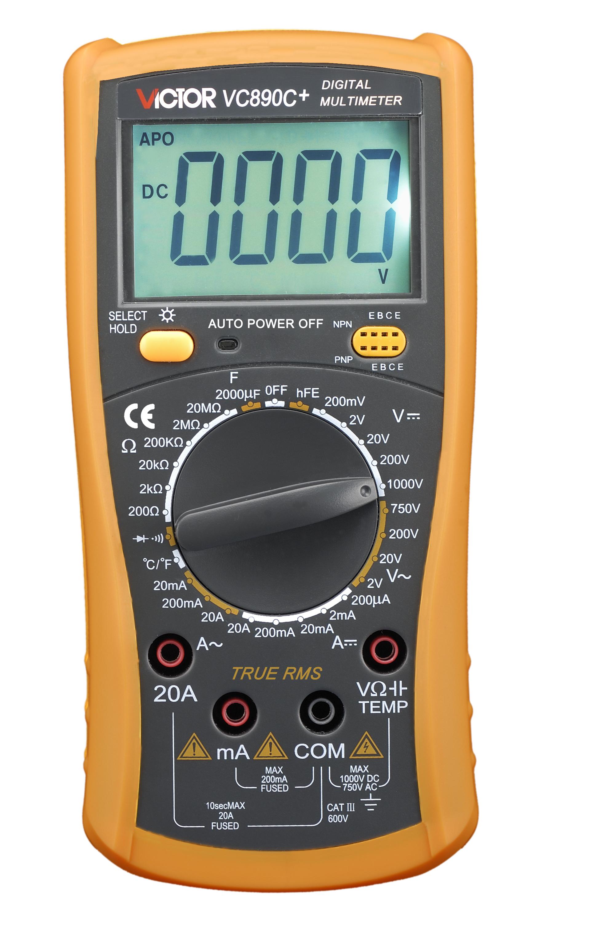 Digitaalinen yleismittari Victor 890C+