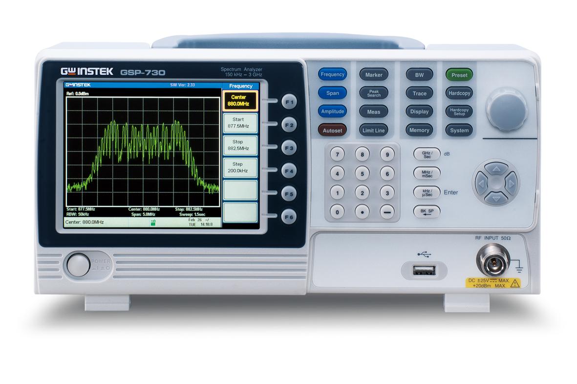 Spektrianalysaattori GW Instek GSP-730