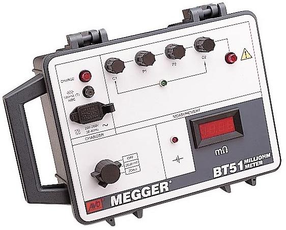 Milliohmimittari Megger BT-51