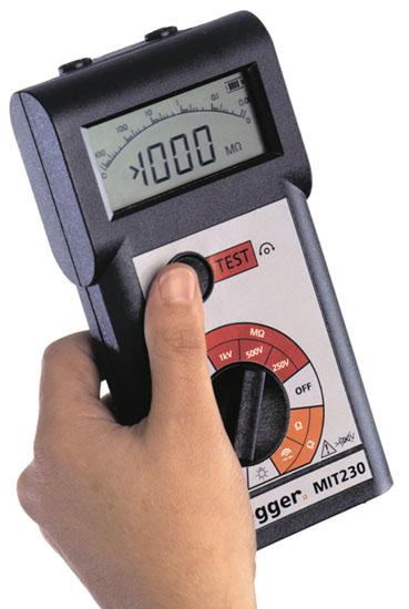 Eristysvastusmittari 1 kV, Megger MIT230HD