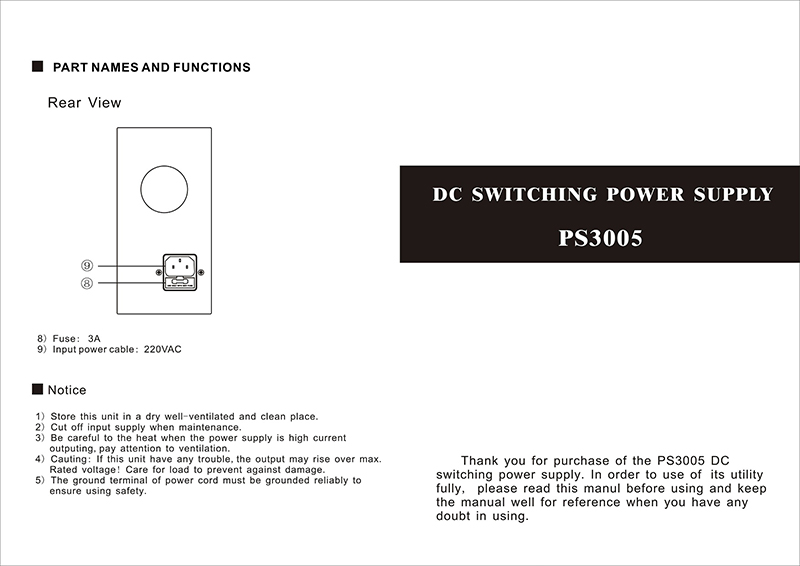 Teholähde PS3005M