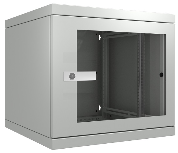 "19"" seinäkaappi lasiovella (S)600 (max. 100kg)"