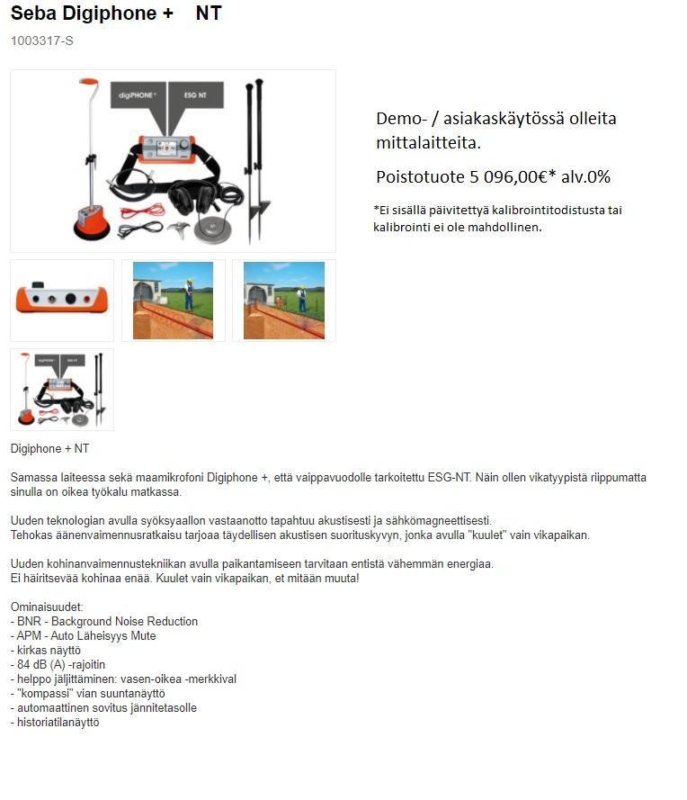 Mittalaitteet / poistomyynti