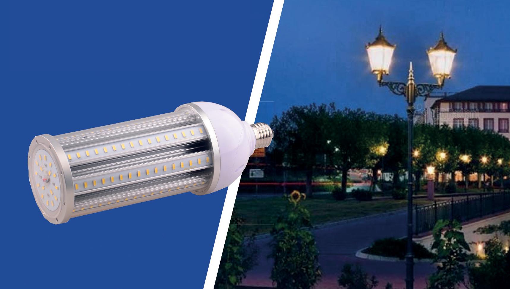 Ledlamppu E40 230V 54W 5000K sidew.