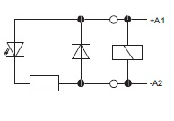 LED-moduuli relekantaan 6-24VDC