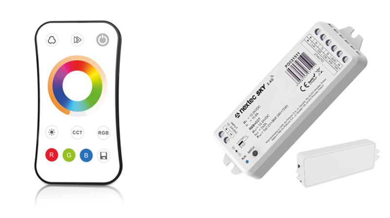 Säädin RGB+CCT-nauhoille 12-24VDC