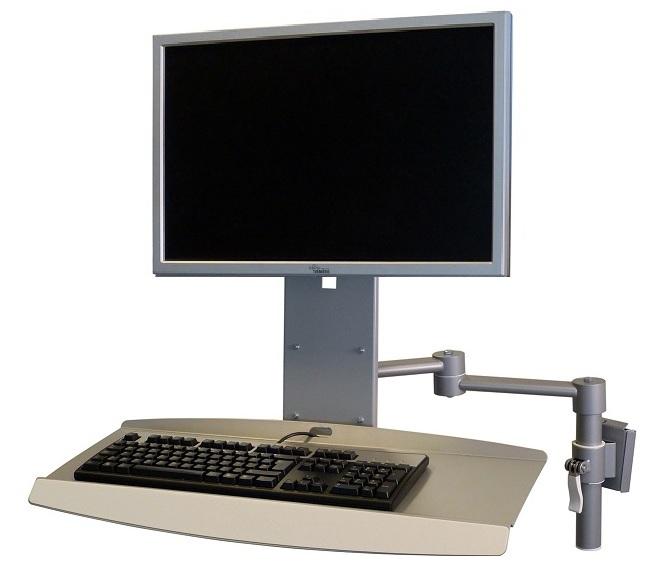 Monitoriteline näppäimistötasolla