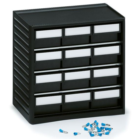 Pientavara laatikosto, 12 laatikkoa
