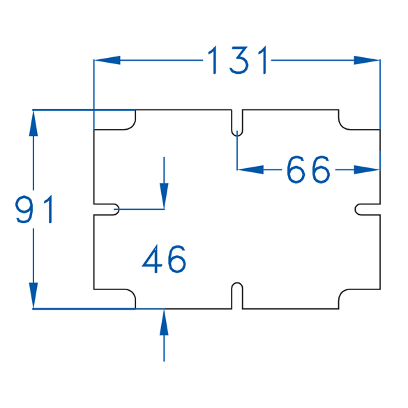 Asennuslevy 125x85 (kotelo 150x110)