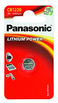 Panasonic CR1220 3V Litium 35 mAh