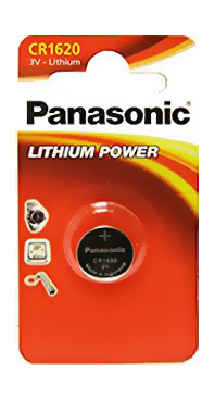 Panasonic CR1620 3V Litium 75 mAh