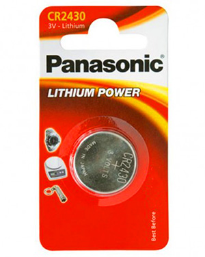 Panasonic CR2430 3V Litium 285mAh