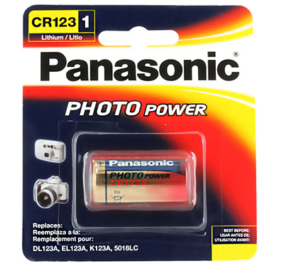 Panasonic CR123A 3V Litium 1600mAh