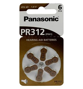 Panasonic PR312 145mAh 6kpl