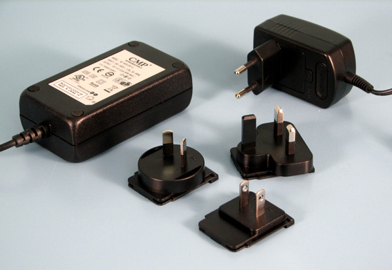Multiplug 24W,12VDC 2,1x5,5mm