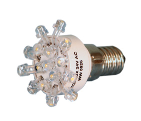 Ledlamppu E-14 16 led 230V Daylight
